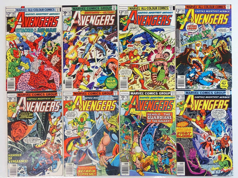 AVENGERS #161, 162, 163, 164, 165, 166, 167, 168 - (8 in Lot) - (1977/78 - MARVEL - US Price & UK