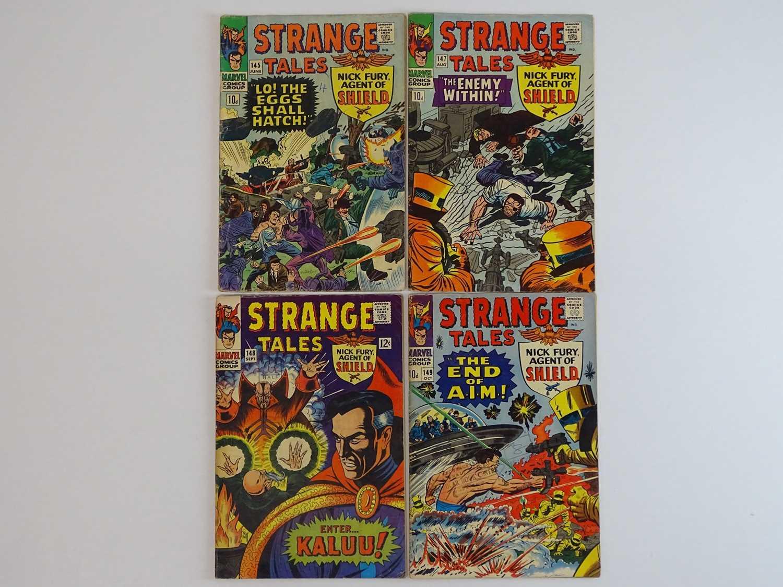 STRANGE TALES: DR. STRANGE & NICK FURY, AGENT OF SHIELD #145, 147, 148, 149 - (4 in Lot) - (1966 -