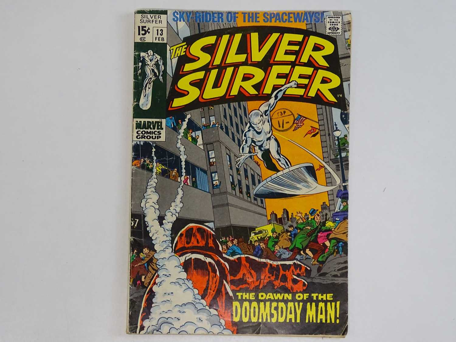 SILVER SURFER #13 - (1970 - MARVEL - UK Cover Price) - First appearance and origin of Doomsday Man -