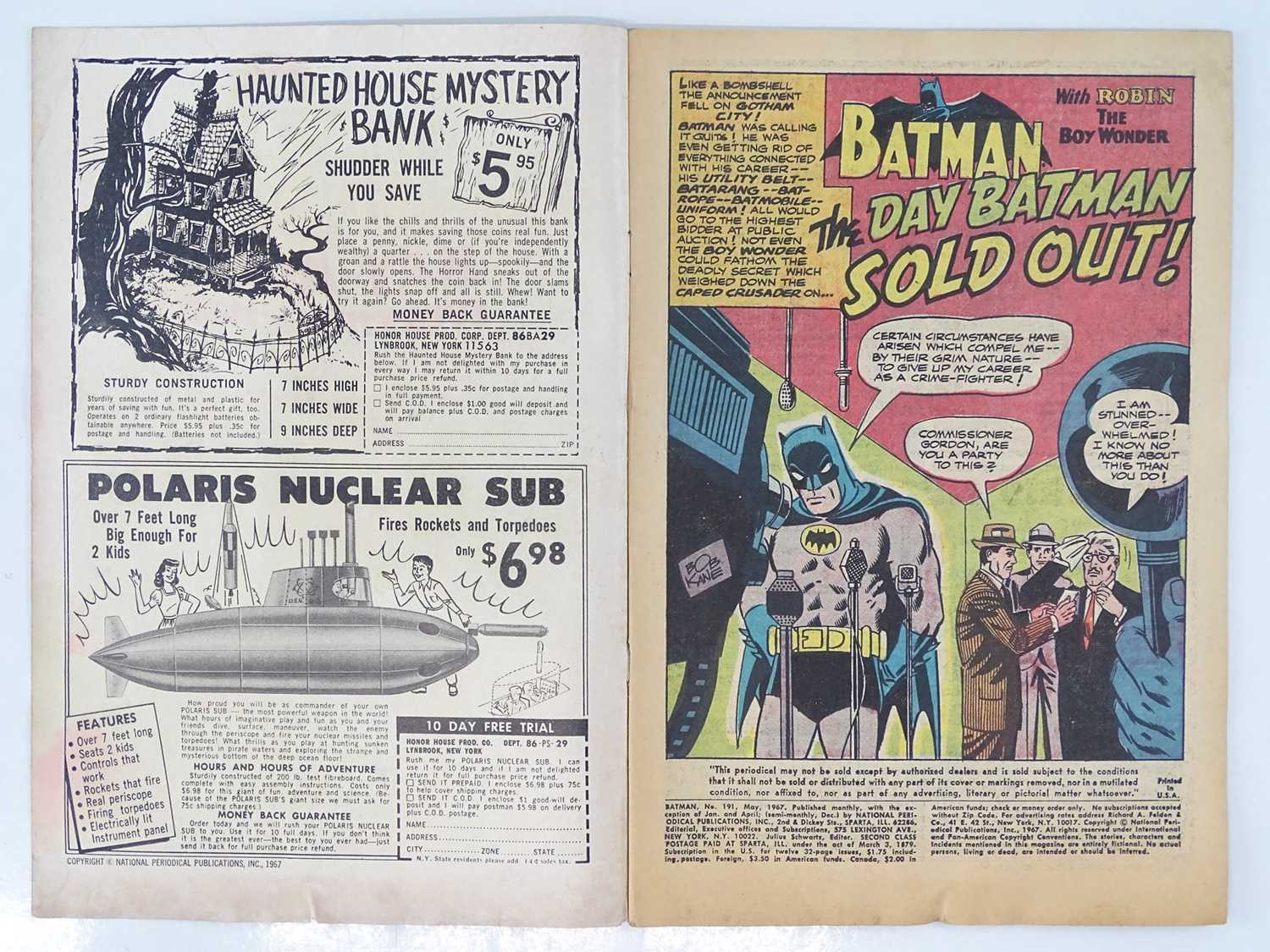 BATMAN #191 - (1967 - DC - UK Cover Price) - Joker and Penguin appearances in this BAT-AUCTION issue - Image 3 of 9