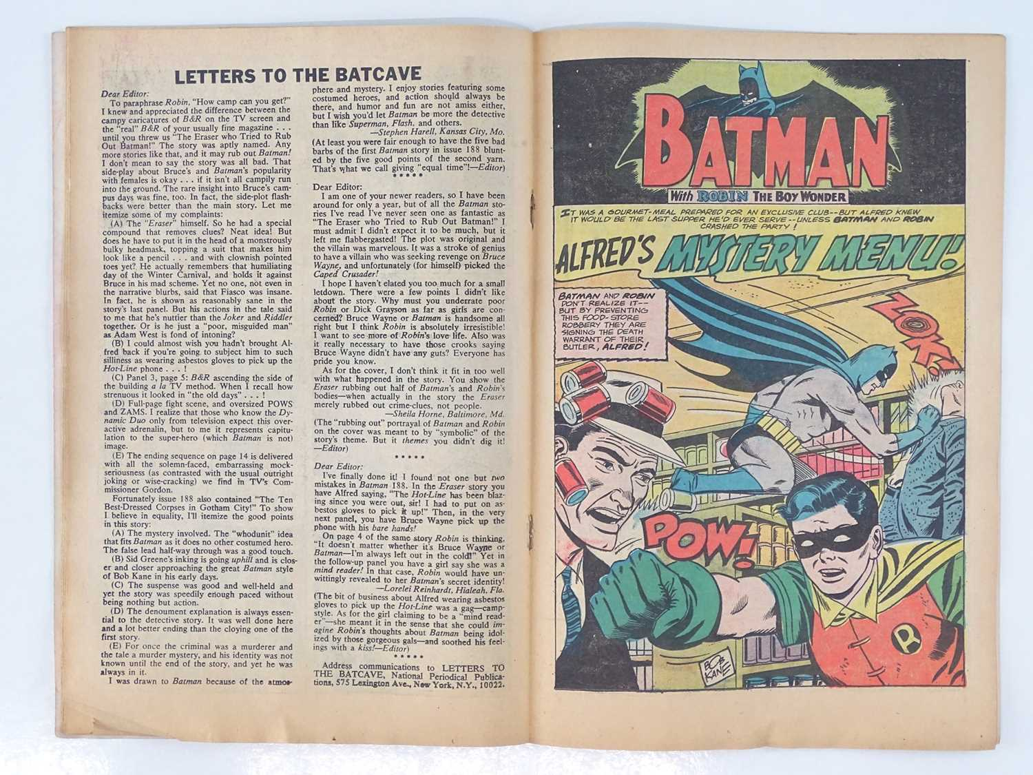 BATMAN #191 - (1967 - DC - UK Cover Price) - Joker and Penguin appearances in this BAT-AUCTION issue - Image 5 of 9