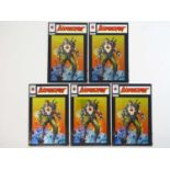 BLOODSHOT #1 - (5 in Lot) - (1993 - VALIANT) Includes Five (5) #1 (Chrome Foil Cover) First Issue of