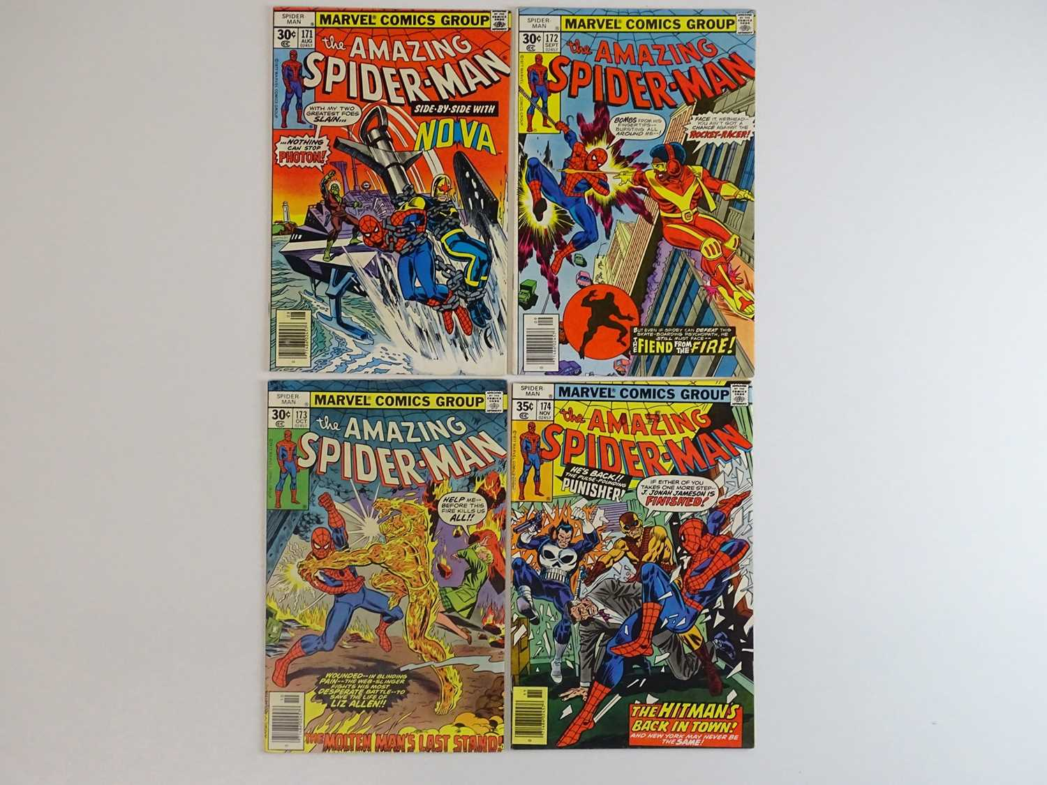 AMAZING SPIDER-MAN #171, 172, 173, 174 - (4 in Lot) - (1977 - MARVEL) - Includes First appearance of