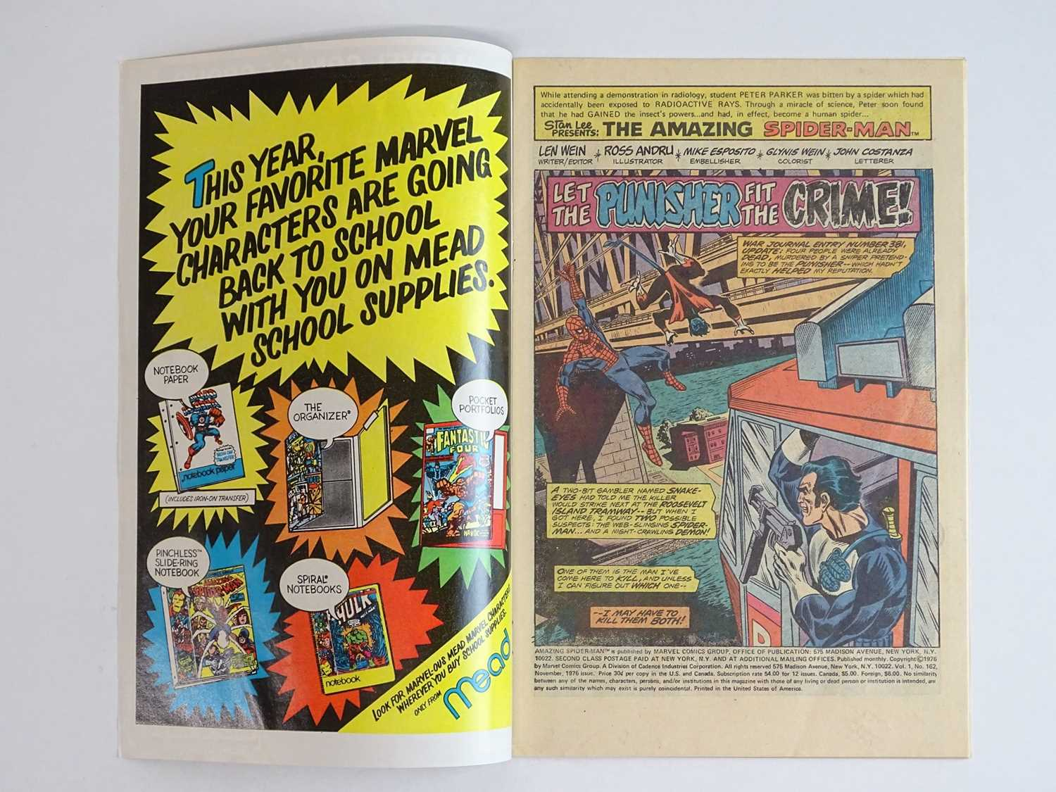 AMAZING SPIDER-MAN #162 - (1976 - MARVEL) - First full appearance of Jigsaw and Dr. Maria - Image 3 of 9