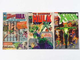 HULK, TALES TO ASTONISH & X-MEN LOT - (3 in Lot) - (MARVEL - UK Cover Price & UK Price Variant) -