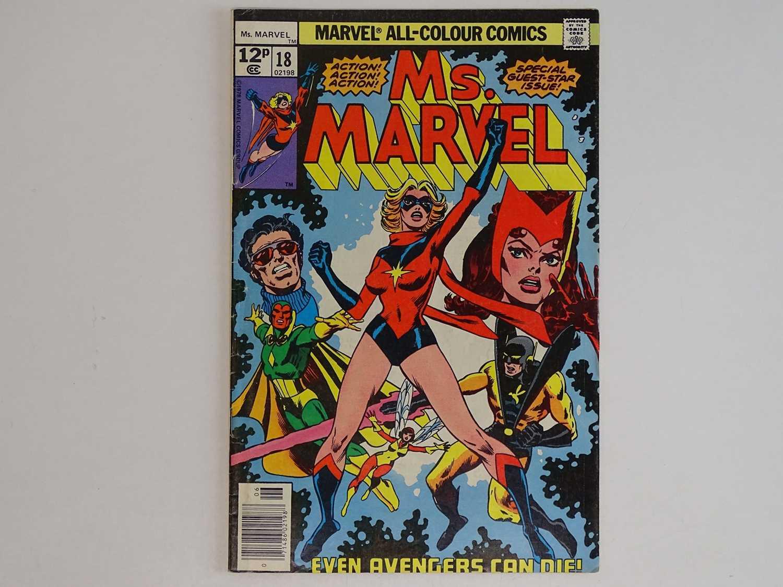 MS. MARVEL #18 - (1978 - MARVEL - UK Price Variant) - First full appearance of Mystique + Avengers