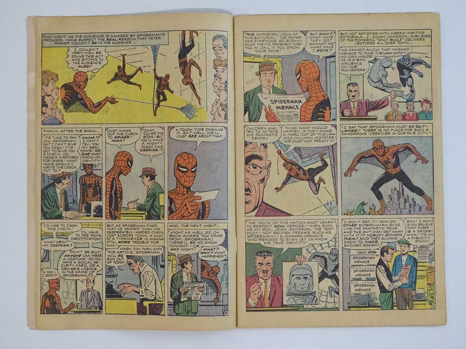 AMAZING SPIDER-MAN #1 - (1963 - MARVEL - UK Price Variant) - First appearance of Spider-Man un his - Image 11 of 27