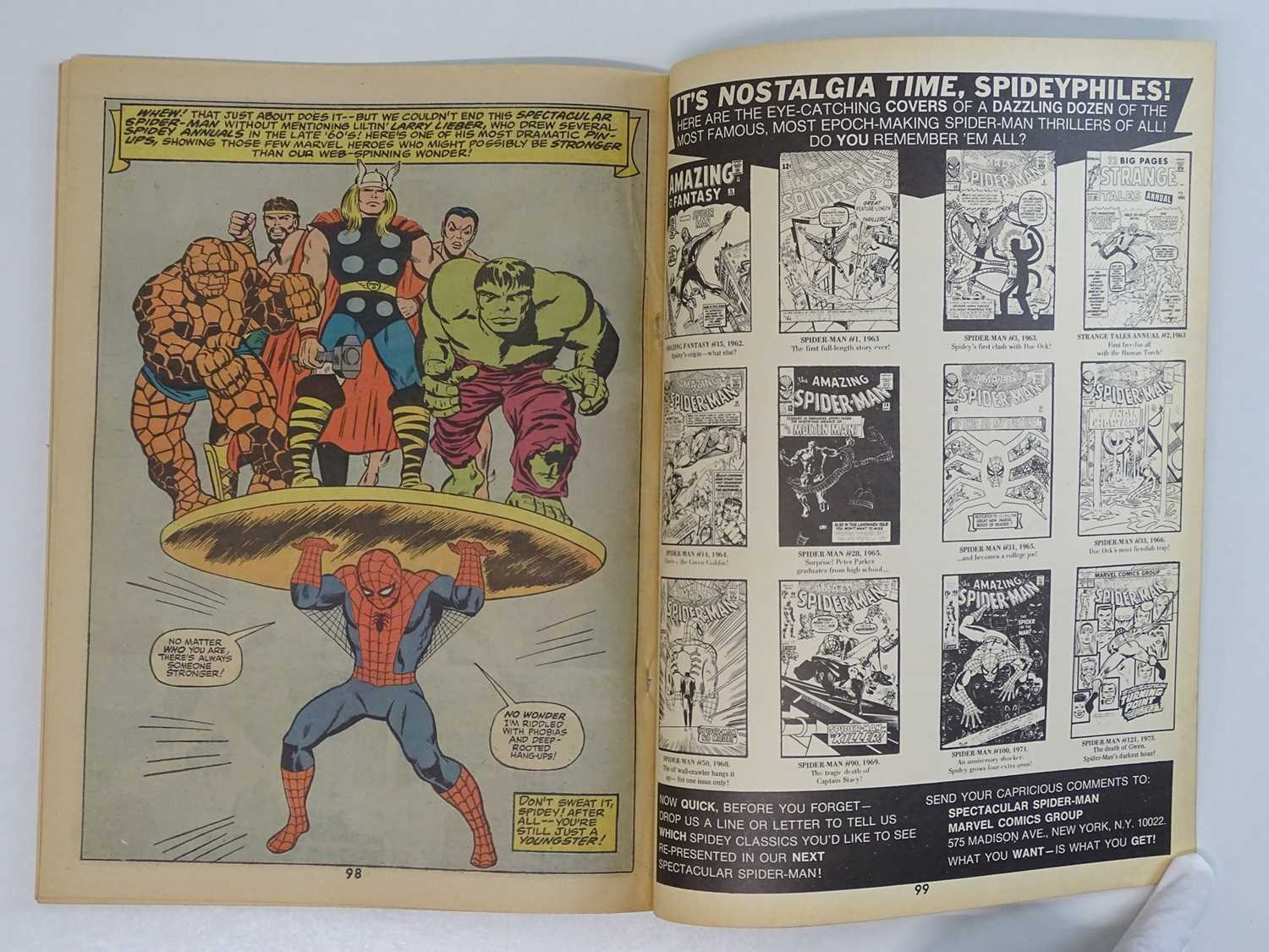 Marvel Treasury Edition #1 Spectacular Spider-Man (Marvel - 1974) Includes Gil Kane and Steve - Image 6 of 8