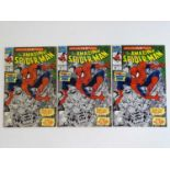 AMAZING SPIDER-MAN #350 - (1992 - MARVEL) - 3 x Issues of #350 - Doctor Doom and Black Fox