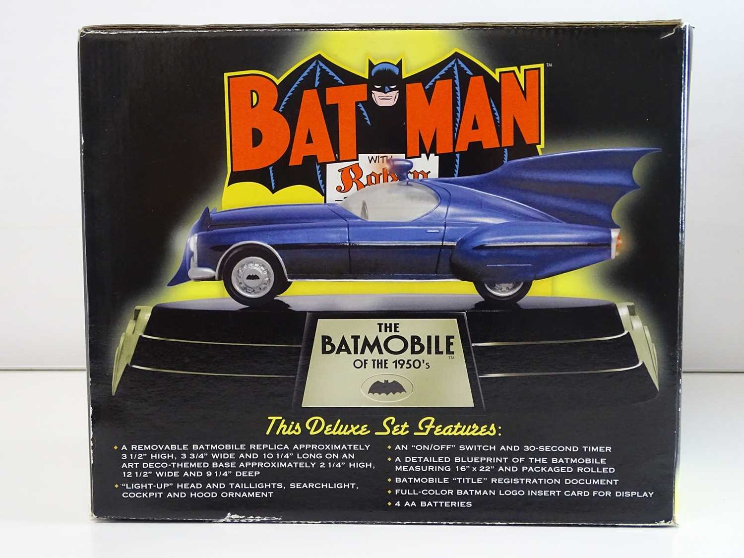 BATMAN: BATMOBILE REPLICA - 1950's EDITION - Limited Edition of 1,500 + Hand painted cold-cast - Image 4 of 5