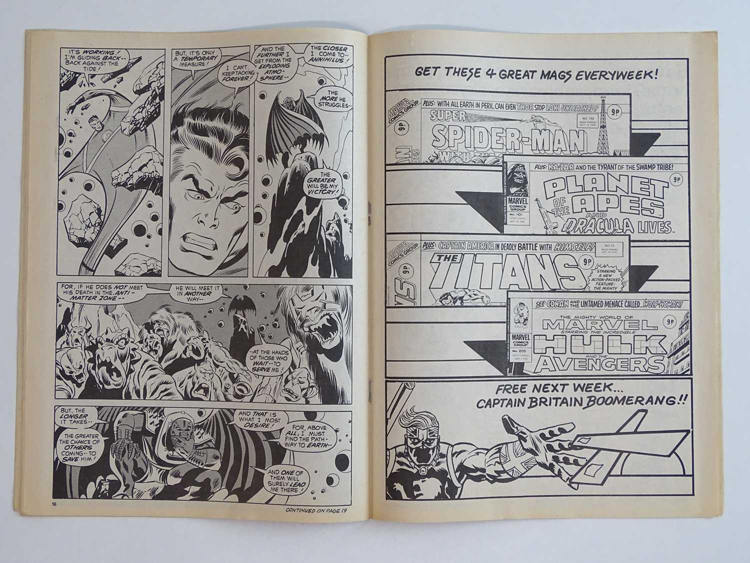 CAPTAIN BRITAIN #1 - (1976 - BRITISH MARVEL) - Origin and First appearance of Captain Britain - Image 7 of 12