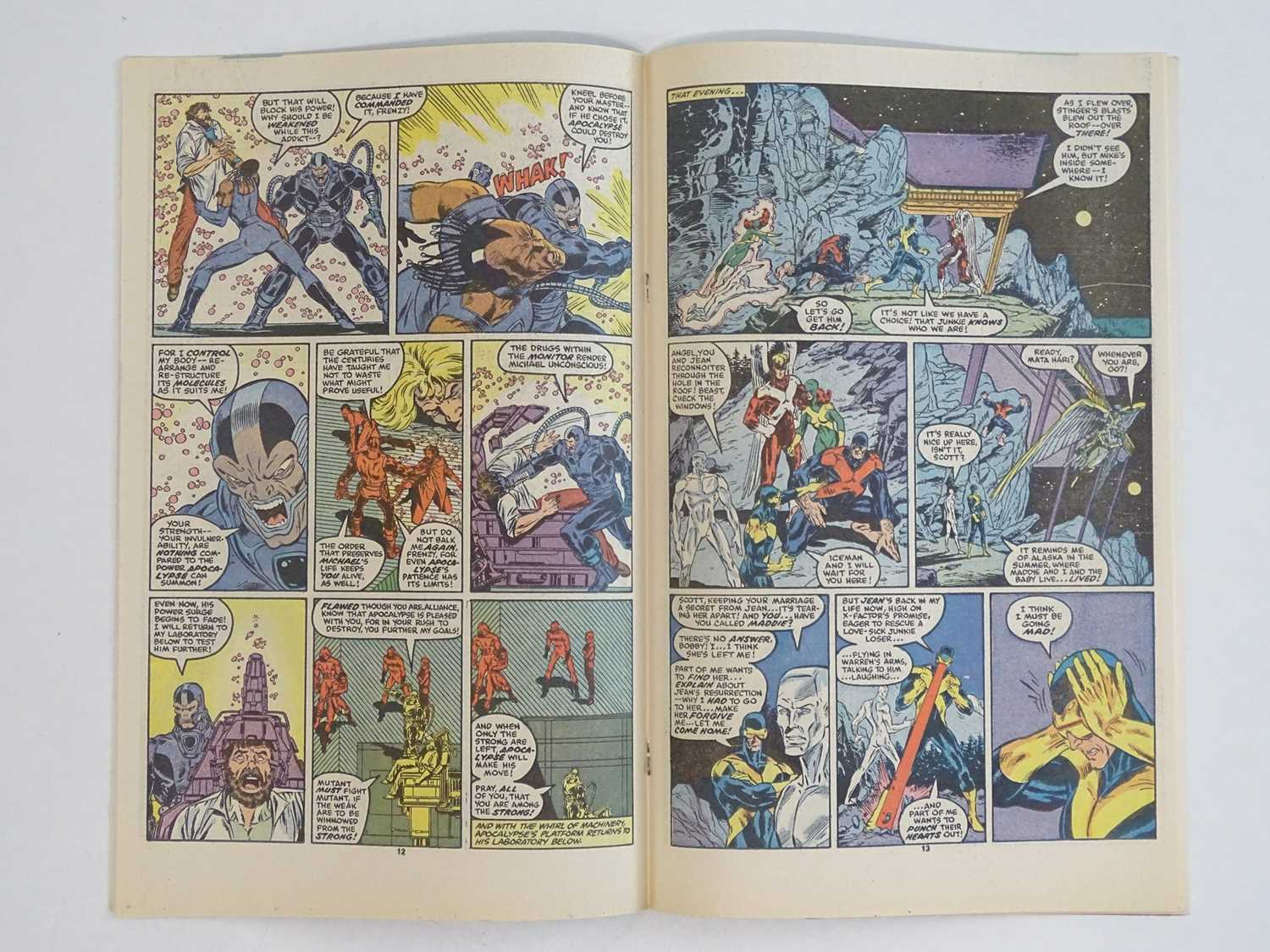 X-FACTOR #6 - (1986 - MARVEL) - Includes First (Full) Appearance of Apocalypse - Flat/Unfolded - a - Image 5 of 9