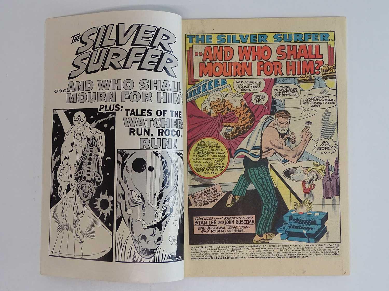SILVER SURFER #5 - (1969 - MARVEL) Silver Surfer battles the Stranger + The Thing, Mr. Fantastic, - Image 3 of 8