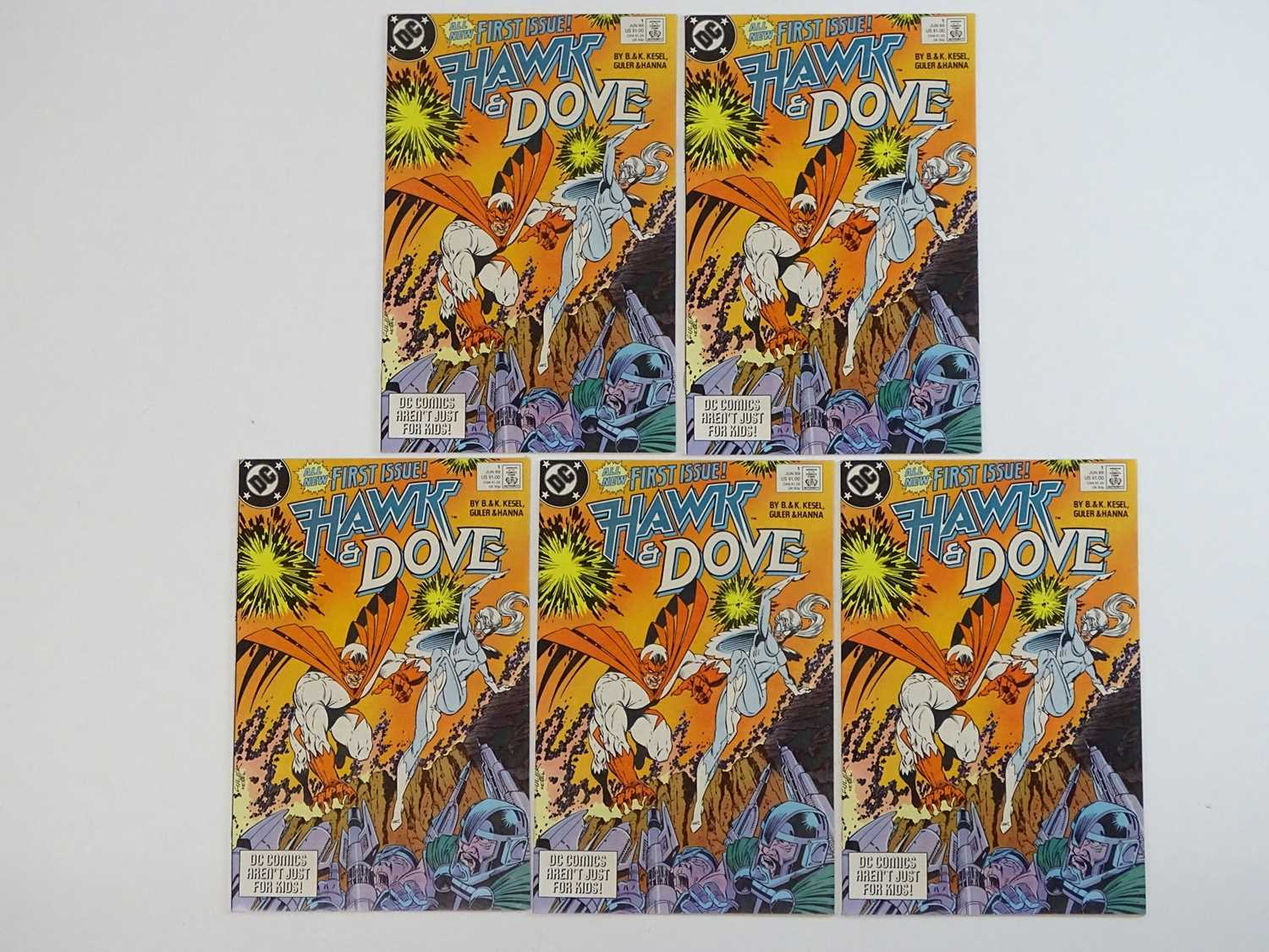 HAWK & DOVE #1 - (5 in Lot) - (1989 - DC) - First Printing - Five (5) #1 issues for the Barbara