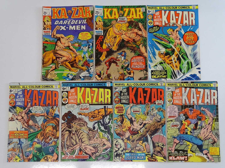 KA-ZAR #1, 2, 6, 8, 9, 13, 14 - (7 in Lot) - (1970/76 - MARVEL - UK Cover Price & UK Price