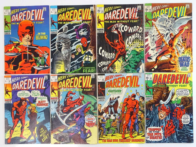 DAREDEVIL #53, 54, 55, 56, 57, 59, 62, 66 - (8 in Lot) - (1969/70 - MARVEL - US Price, UK Price