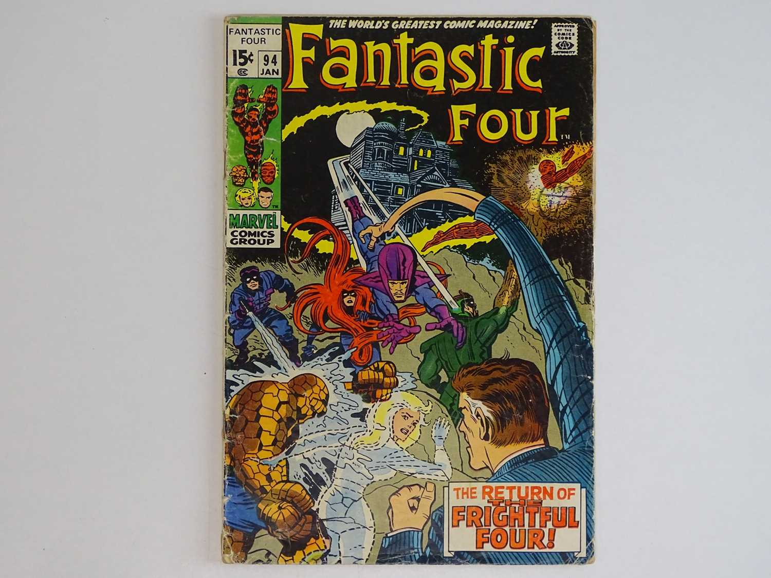 FANTASTIC FOUR #94 - (1970 - MARVEL - UK Price Variant) - Includes First appearance Agatha