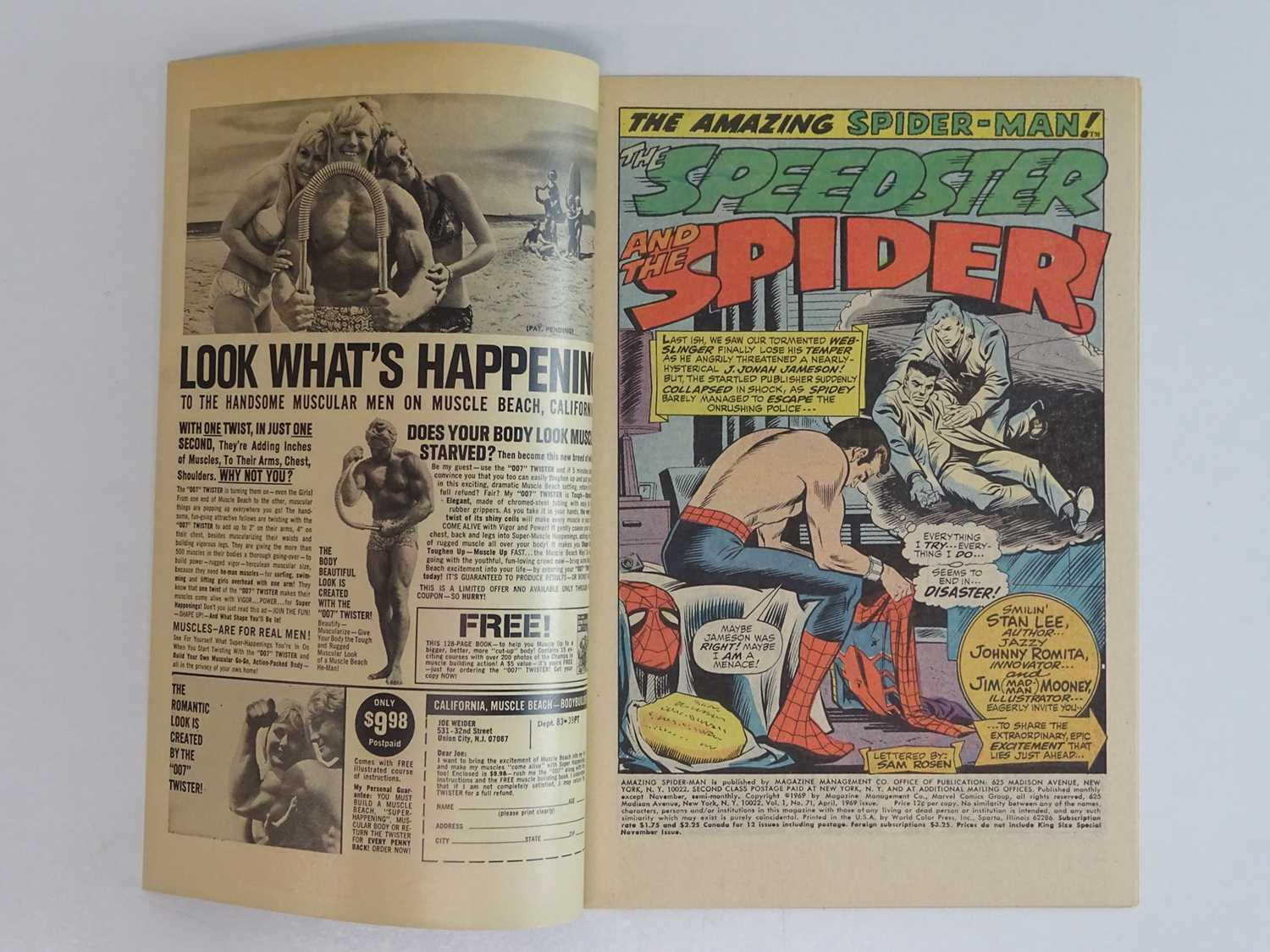 AMAZING SPIDER-MAN #71 - (1969 - MARVEL) - Quicksilver, Scarlet Witch, Toad appearances - John - Image 3 of 9