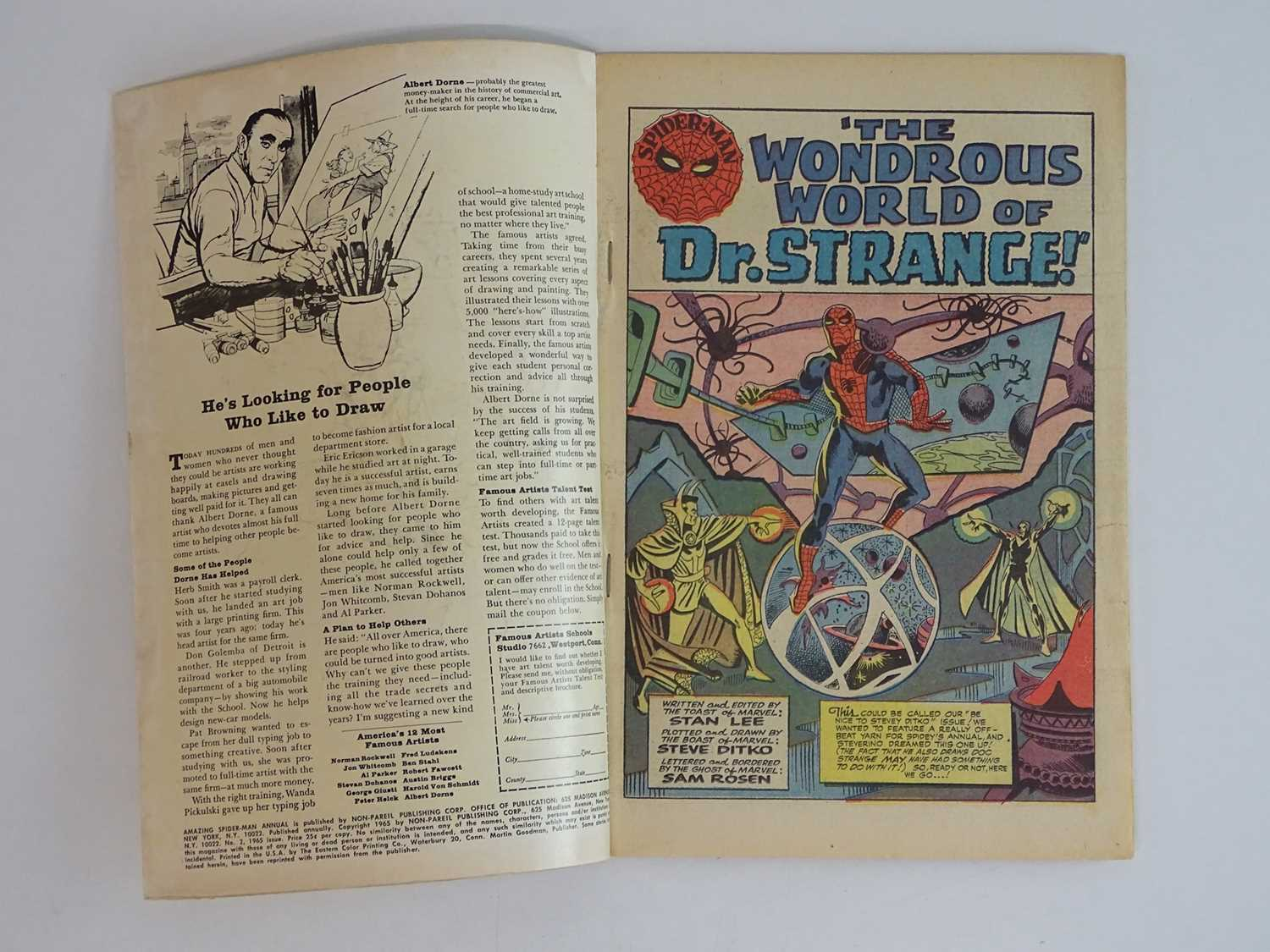 AMAZING SPIDER-MAN: KING SIZE ANNUAL #2 - (1965 - MARVEL - UK Cover Price) - First appearances of - Image 3 of 8