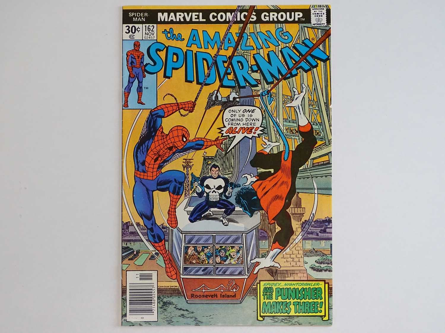 AMAZING SPIDER-MAN #162 - (1976 - MARVEL) - First full appearance of Jigsaw and Dr. Maria
