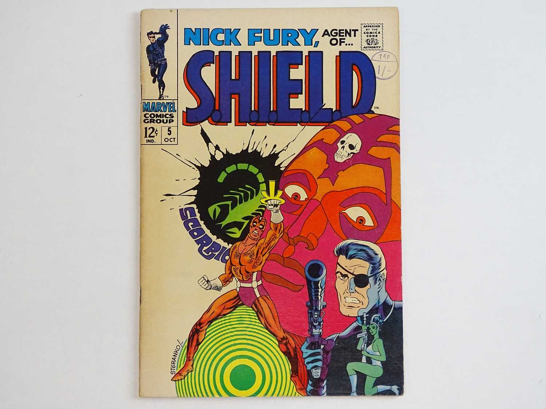 NICK FURY: AGENT OF SHIELD #5 - (1968 - MARVEL - UK Cover Price) - Classic Cover - Jim Steranko