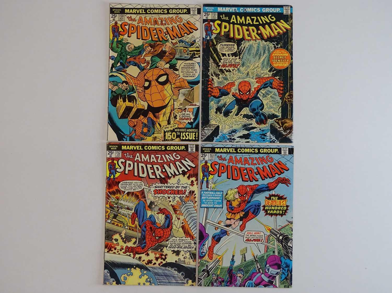 AMAZING SPIDER-MAN #150, 151, 152, 153 - (4 in Lot) - (1975/76 - MARVEL) - Includes Professor Smythe