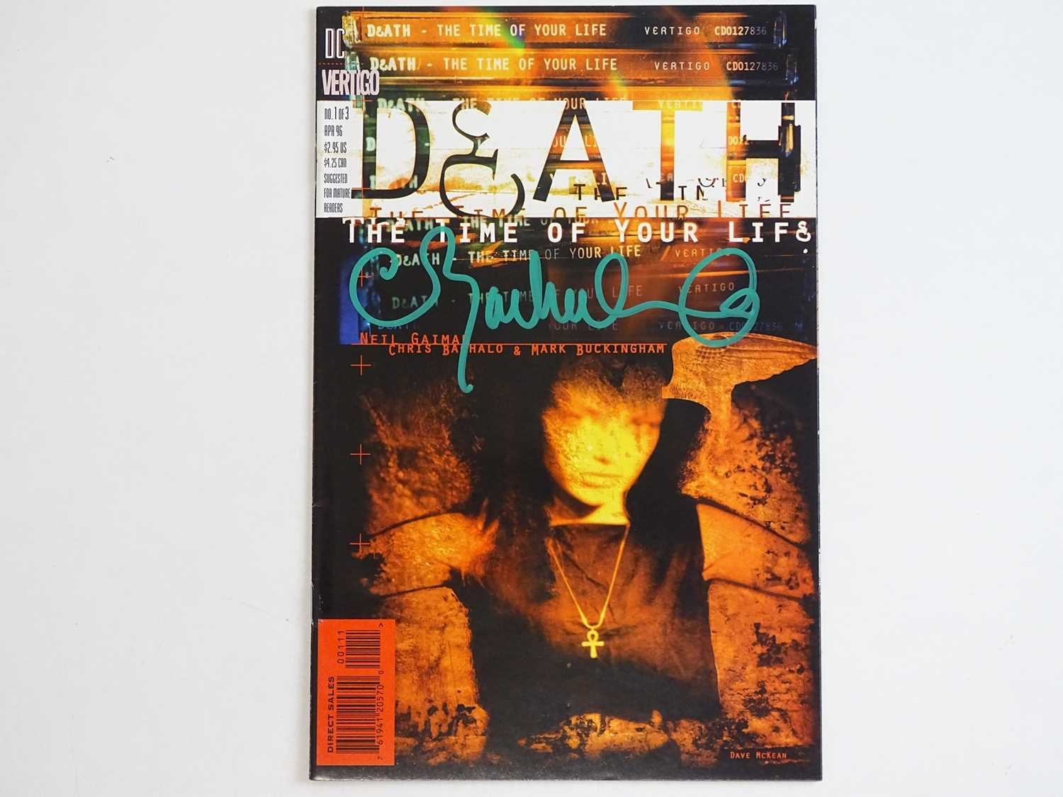 DEATH: THE TIME OF YOUR LIFE #1 - (DC/VERTIGO - 1996) - Signed to Front Cover by Chris Bachalo