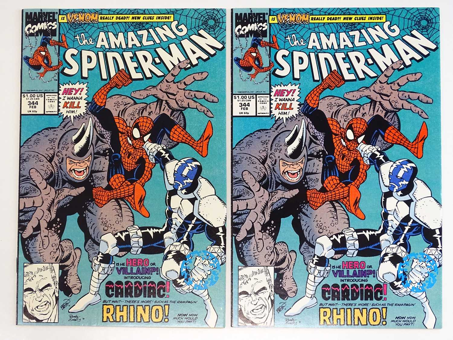 AMAZING SPIDER-MAN #344 - (1988 - MARVEL) - 2 x Issues of #344 - First appearance of Cletus