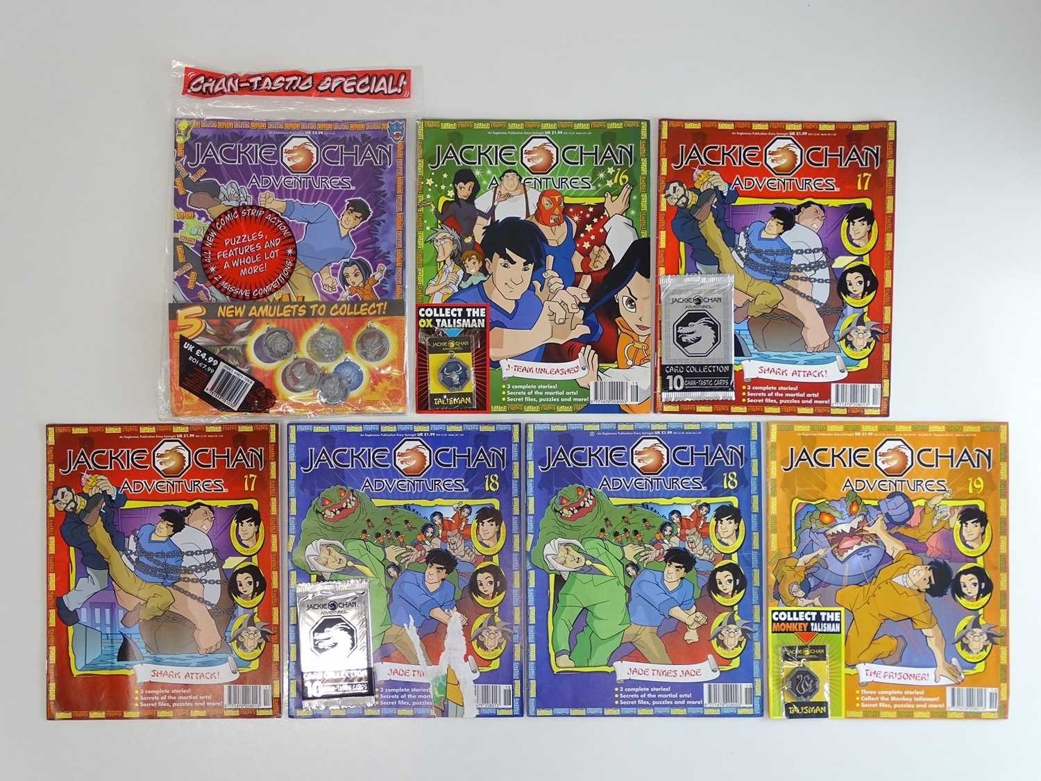 JACKIE CHAN ADVENTURES #16, 17 (x 2), 18 (x 2), 10 & CHANTASTIC SPECIAL - (7 in Lot) - (2003/06 -