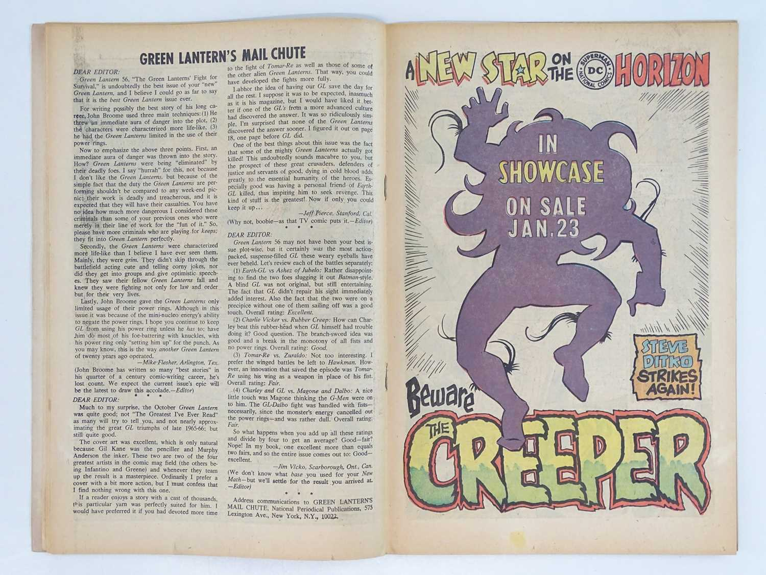 GREEN LANTERN #59 - (1968 - DC - UK Cover Price) - Classic DC Cover + KEY Book - First appearance of - Image 5 of 9