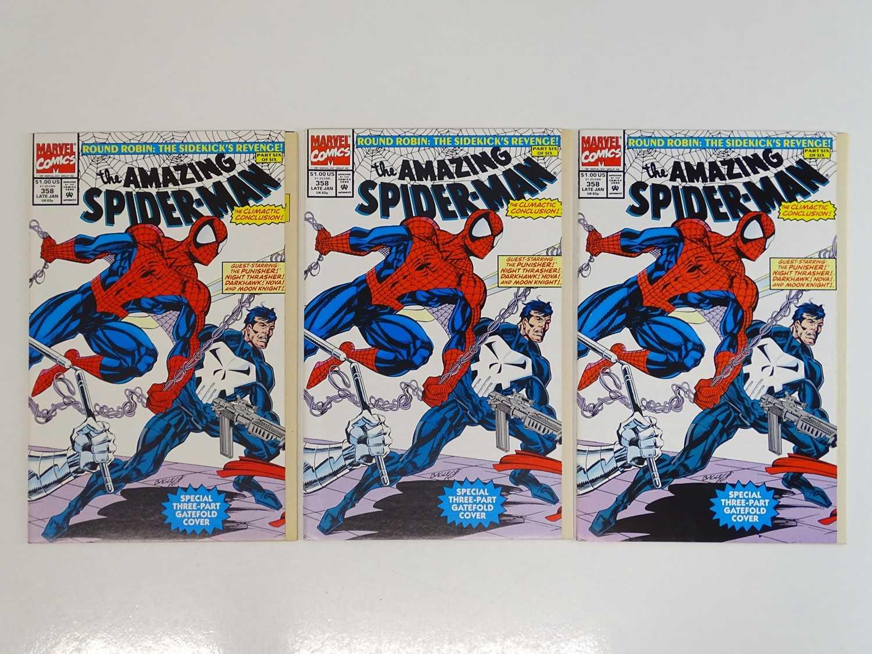 AMAZING SPIDER-MAN #358 - (1992 - MARVEL) - 3 x Issues of #358 - Wraparound gatefold cover +