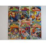MS. MARVEL #3, 5, 8, 10, 12, 14 - (6 in Lot) - (1977/78 - MARVEL - UK Price Variant) - Includes