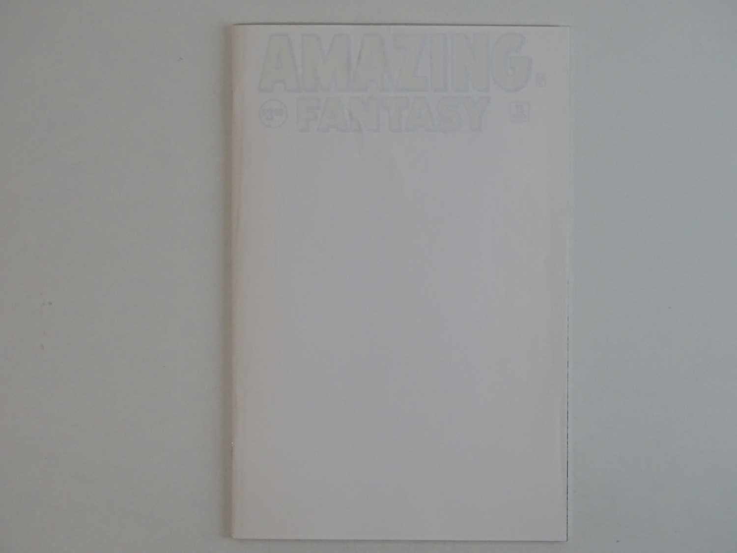 AMAZING FANTASY #15 - (1968 - MARVEL) - Facsimile Edition + White Cover with cover protector