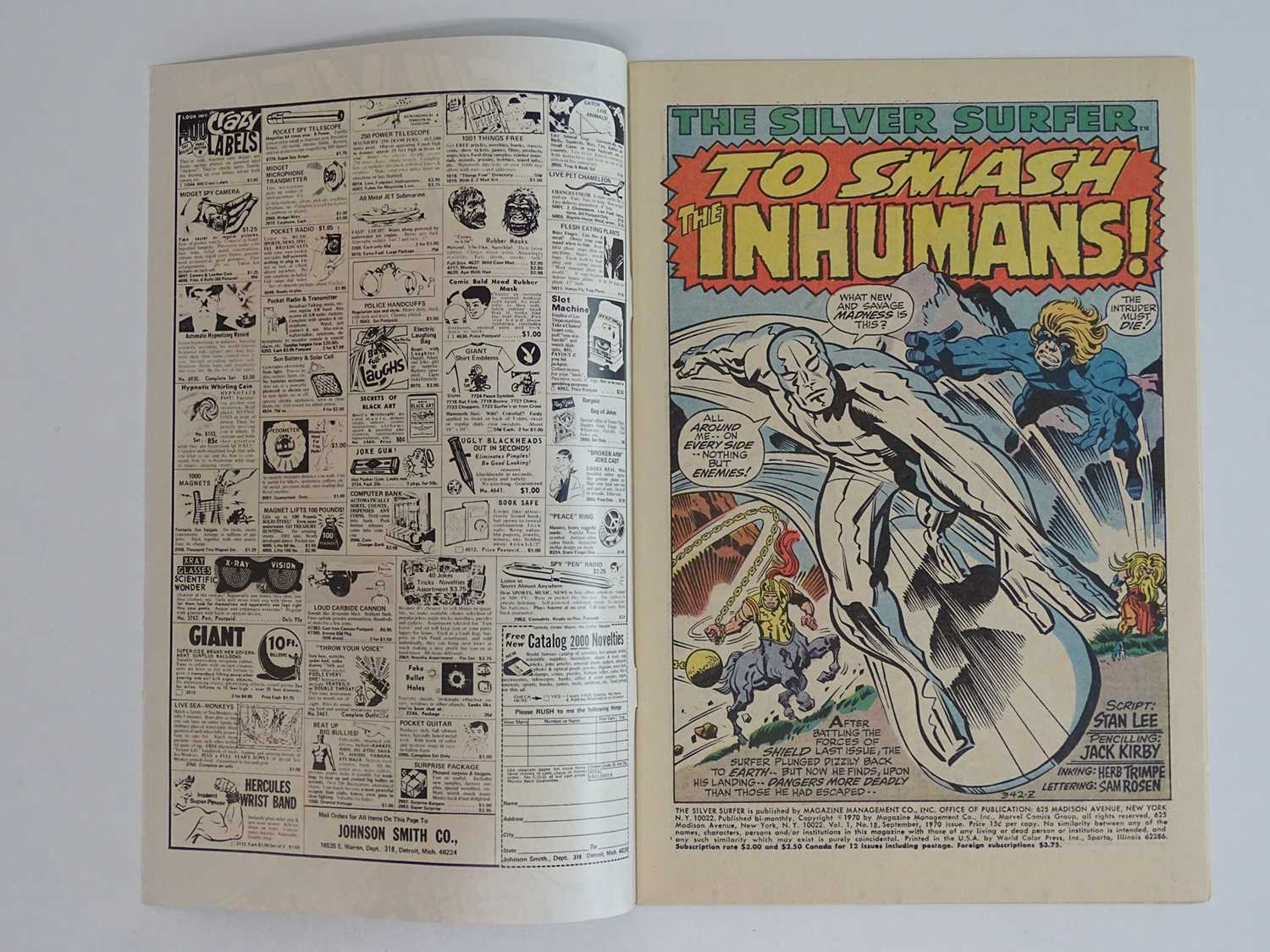 SILVER SURFER #18 - (1970 - MARVEL) - Inhumans appearance + Last issue of the title - Jack Kirby - Image 3 of 9