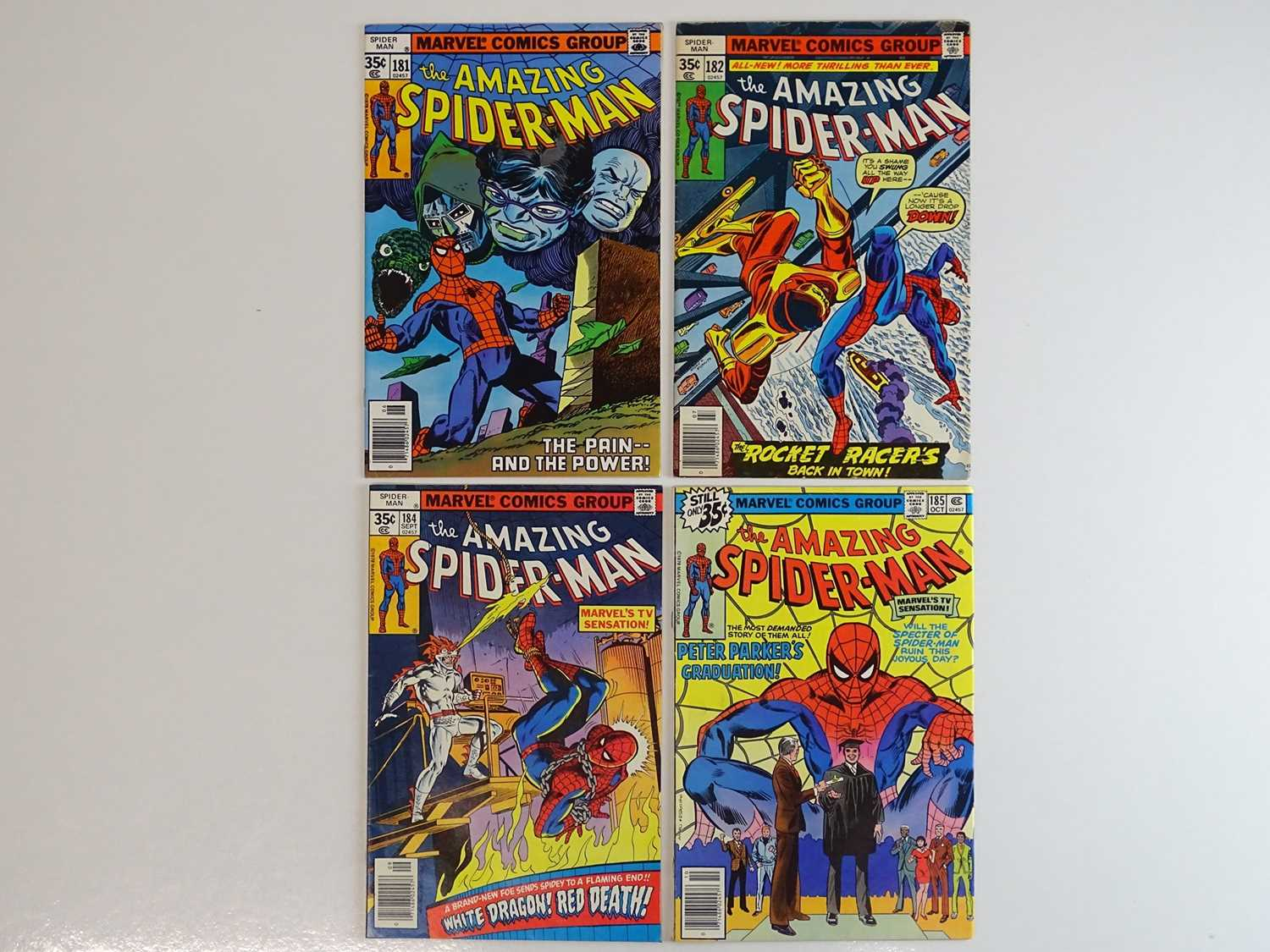 AMAZING SPIDER-MAN #181, 182, 184, 185 - (4 in Lot) - (1978 - MARVEL) - Includes First appearance of
