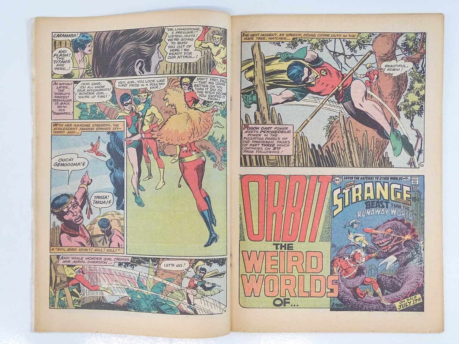 TEEN TITANS #23 - (1969 - DC - UK Cover Price) - Classic DC Cover - New costume for Wonder Girl - Image 5 of 9