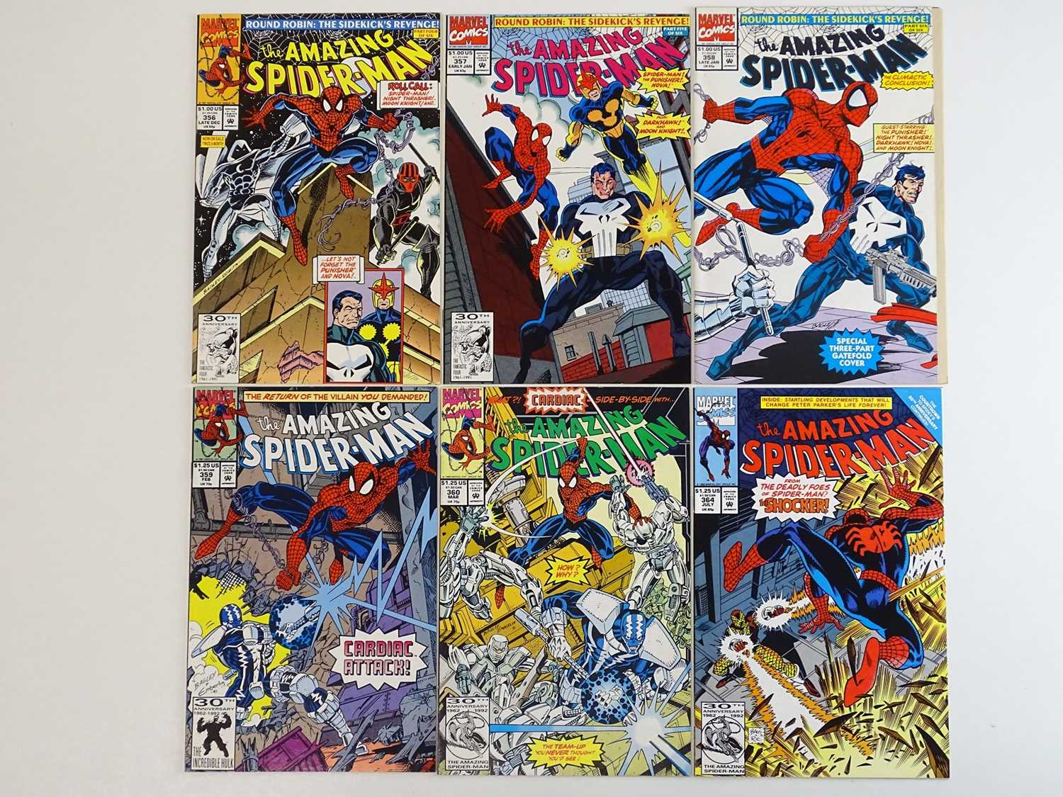 AMAZING SPIDER-MAN #356, 357, 358, 359, 360, 364 - (6 in Lot) - (1991/92 - MARVEL) - Includes