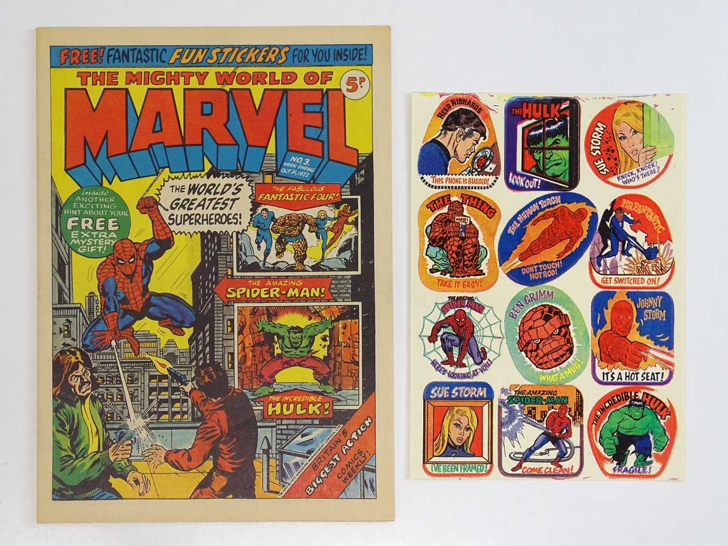 MIGHTY WORLD OF MARVEL #1 to 397 - (397 in Lot) - (1972/83 - BRITISH MARVEL) - Complete 397 issue - Image 2 of 3