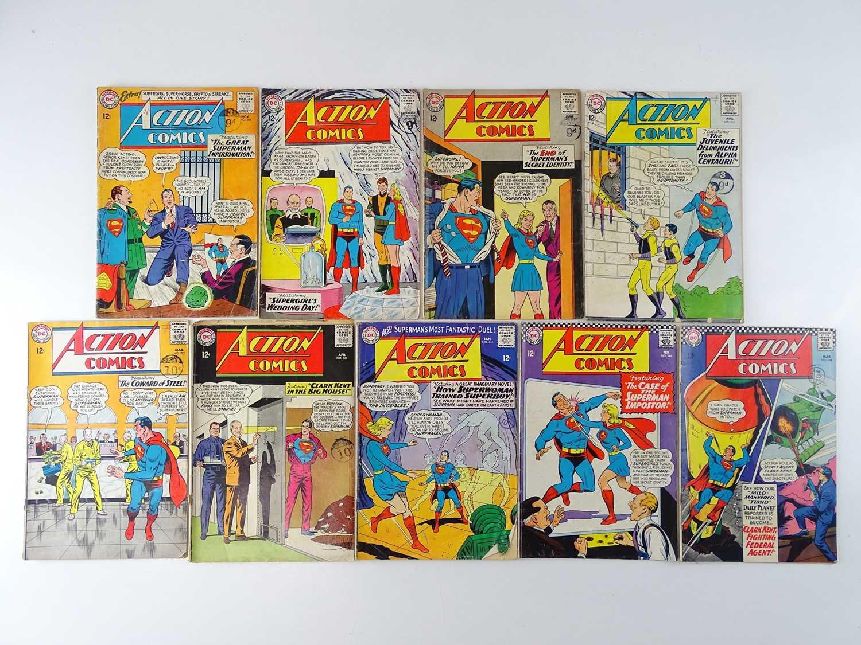 ACTION COMICS: SUPERMAN #306, 307, 313, 315, 322, 323, 332, 346, 348 - (9 in Lot) - (1963/67 -