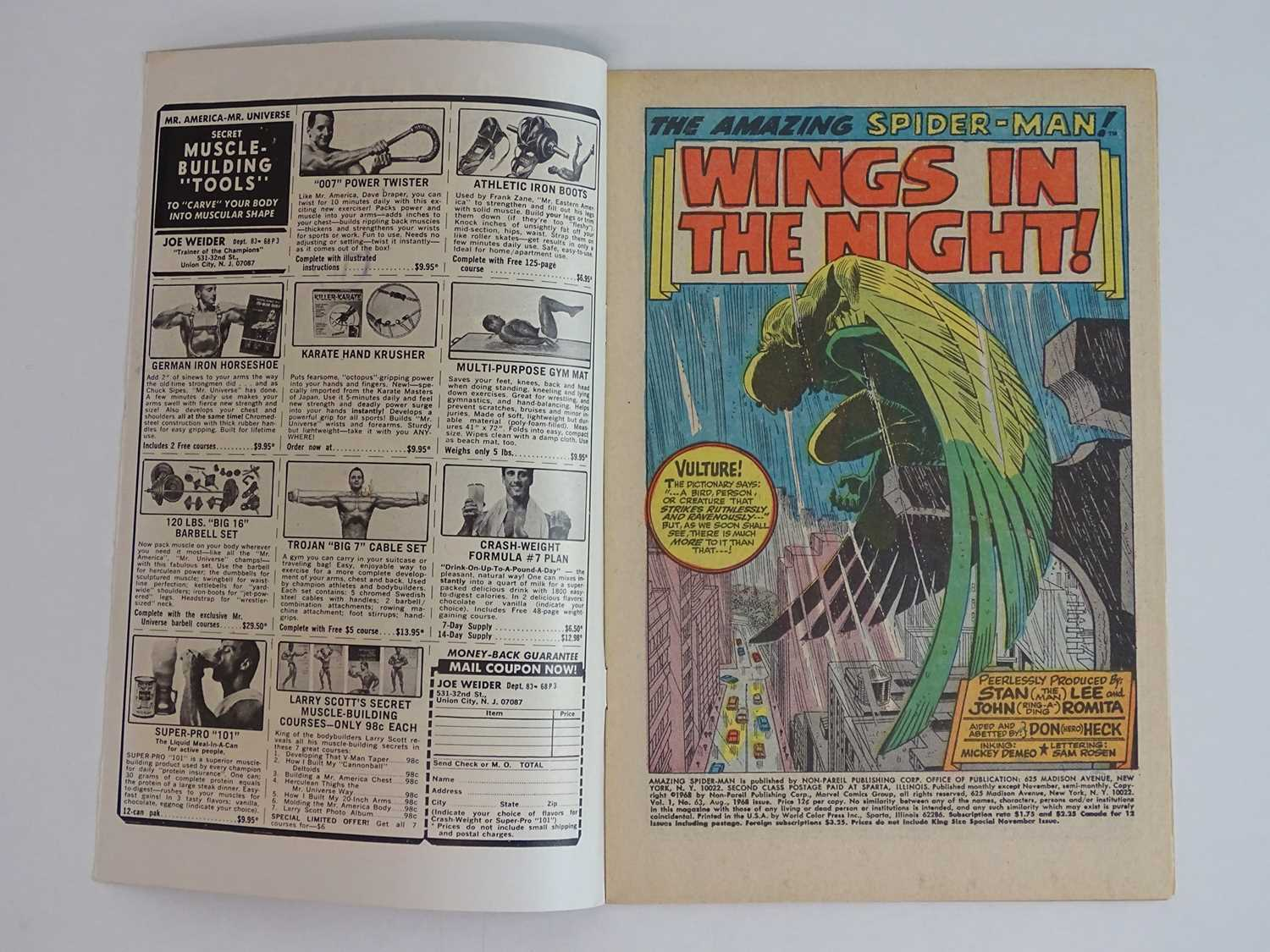 AMAZING SPIDER-MAN #63 - (1968 - MARVEL - UK Cover Price) - The original Vulture (Adrian Toomes) and - Image 3 of 9