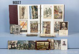 Sehr umfangreiches Postkartenkonvolut in neuzeitlichem Album, überwiegend Kaiserzeit,...