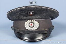 Schirmmütze 3. Reich für Mannschaften, komplett mit Effekten, guter Zustand mit...