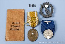 Konv. Infanterie-Sturmabzeichen in Silber, Zinkausführung, Dienstauszeichnung der...