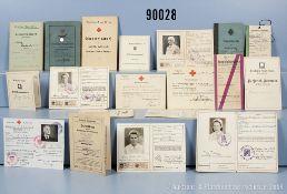 Sehr umfangreiches Dokumentenkonvolut, Kaiserreich, Weimarer Republik, 3. Reich und NK,...