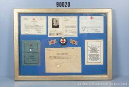 Nachlass einer DRK-Schwester 3. Reich, u.a. Personalausweis 1941, Verwendungsbuch,...