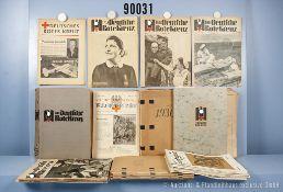 """Konv. Zeitschriften, """"Deutsches Rotes Kreuz - Rettung und Hilfe"""", Jahrgänge 1934 bis..."""