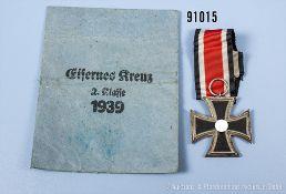"""EK 2 1939 Hersteller """"65"""" im Bandring, mit dazugehöriger Verleihungstüte, guter Zustand,..."""