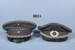 Konv. 2 Schirmmützen für Führer 3. Reich, komplett mit Effekten, 1 x mal Knautschschirm,...