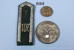 """Konv. Medaille Wehrmacht Heer, Zinkausführung, vorderseitig Hoheitsadler und """"35...."""
