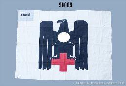 """Fahne 3. Reich, Leinenausführung, Größe ca. 135 x 120 cm, in der oberen Ecke """"Minden 6"""",..."""